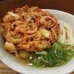 ふたば製麺 - かき揚げうどん590円也。
