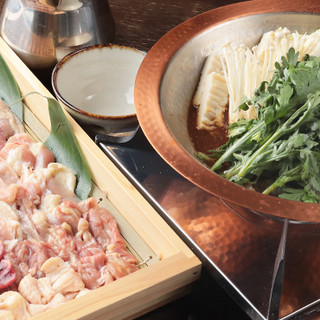 【コース】名代鶏すき鍋コース/炉端串焼きコース