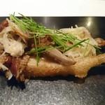 98050024 - わかさぎのフリット ポワロー、芽セロリ、くり茸、平茸を使って