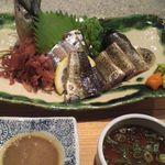 Yompachigyojou - 大黒さん肝醤油とポン酢