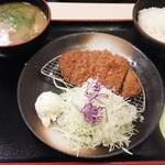 松乃家 - 朝定食トンカツ豚汁¥500