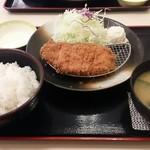 松乃家 - 朝定食トンカツ¥400