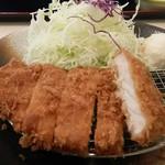松乃家 - 朝定食トンカツの切り口