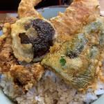 豊野丼 - 鯨天丼