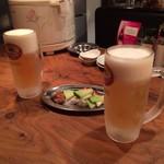 robatahyoutan - 18時半まで半額の生ビールとお通し