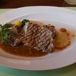 98072928 - 豚ロース肉のグリエ 粒マスタードソース