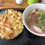 香川製麺てまり - かき揚げうどん