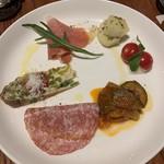 エノテカ・アルキミスタ - 前菜の盛り合わせ