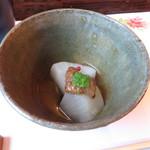 築漸 - 大根煮 ボルチーニ茸のクリームソースかけ