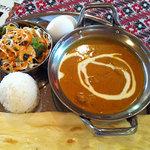 indonepa-ruryouriandoba-shidarata - Aランチのチキンカレーです。