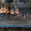 長谷の里 - 料理写真:とりもも焼きを焼いている様子