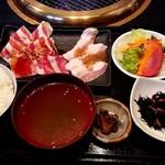 焼肉 もつ鍋 いこい - 焼肉ランチ(1000円)☆