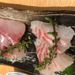 凛や - お刺身 カンパチと鯛