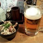串酒場 大笑 - ガツポン 生ビール