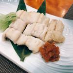 東鮨 新店 - アナゴの白焼き