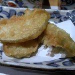金魚すさび - ◆琉球島野菜(ゴーヤ、紅芋、島人参)の天婦羅盛り合わせ