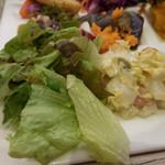 アンテナショップ ピエトロドレッシング - リーフサラダ、白菜の焼きシーザーサラダ