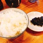 なか道 - ご飯(小) 昆布の佃煮付き