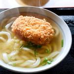 清水屋 - 料理写真:コロッケうどん(かけ+コロッケ)