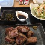 BOUNO参丁目 - 2018年12月8日  ママの気まぐれ定食(サイコロステーキ)