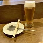 美味しんぼ - 生ビールはアサヒスーパードライ