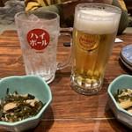 泡盛と沖縄料理 龍泉 - 琉球ハイボール 630円 オリオンビール 630円