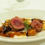 リストランテ ピッツェリア ジャンカルロ トウキョウ - 鹿のヒレ肉のグリル(パンチェッタ巻き)