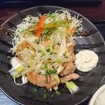 とり鉄 - 鶏の唐揚げ香味ねぎソース定食(850円)