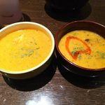インドの恵み - カレー2種ランチ(チキンカレー・本日の豆カレー)