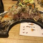 あばら大根 - 平目と香味野菜のカルパッチョ