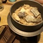あばら大根 - 鱈と山伏茸の釜飯