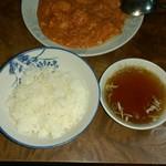 再来 - エビチリ、ライス、 スープ付