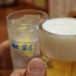 天王寺 はち八 - 生とレモンサワーで乾杯♪