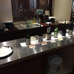 末廣酒造 嘉永蔵 - 無料試飲コーナー。この日は7種。