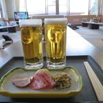 98117730 - 湯上りセット 670円+ビール 450円(2018年12月)