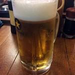 たつや - 「生ビール」大ジョッキのみ。750円也。