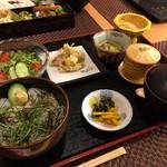 味処 大丸 - イカ月見丼セット 1680円 税込