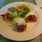 イル・トゥルッロ - サラダも入った前菜4品&パスタのコース