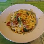 イル・トゥルッロ - パスタのコース・グリル野菜とパンチェッタのカルボナーラ