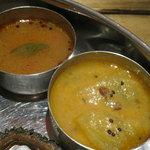 南インド料理 葉菜 - サンバルとラッサム