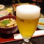 せいろ料理 葵茶屋 - ビールで乾杯