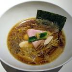Japanese Ramen Noodle Lab Q - 醤油煮干しSOBA_830円