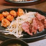 鉄板焼天神ホルモン姪浜店 - ミスジ上丸腸定食