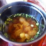 茶寮いま泉 - 味噌汁
