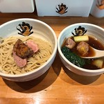 中華そば 満鶏軒 - 料理写真:2018.12 鴨中華つけそばにフォアグラ
