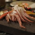 魚貝三昧 げん屋 - 山口活きイカ塩焼き