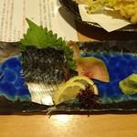 富寿し - 寒鯖 刺身