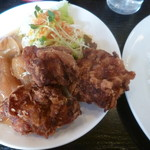 カレーショップ ラホール - '18/12/09 スタミナ焼&若鶏の唐揚げ(920円)