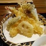 手打ち蕎麦 天晴 - あっぱれ御膳の天ぷら