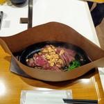 ステーキ食堂 正義 - 鉄板で熱々❗.+:。 ヾ(◎´∀`◎)ノ 。:+.